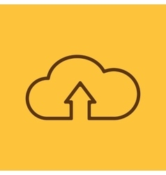 The upload to cloud icon Download symbol Flat vector image