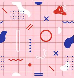 trendy geometric seamless pattern modern print vector image