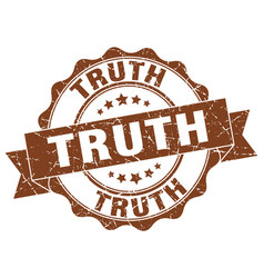 Truth stamp sign seal vector