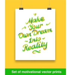 Vecor set of motivation quote Mock up vector image