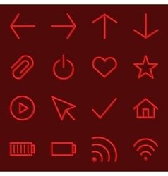 Volumetric Web Icon Collection vector image