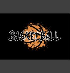 Word basketball on the background basketball ball vector
