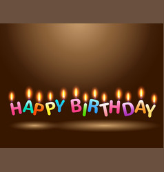 colorful candles happy birthday celebration vector image vector image