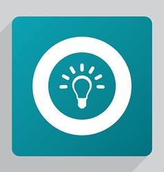 flat idea icon vector image
