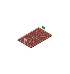 Isolated basketball isometric b-ball vector