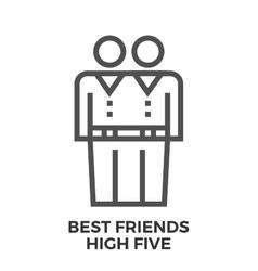 Best friends high five vector image