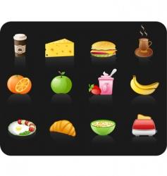 breakfast black vector image vector image