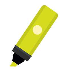 highlighter icon isolated vector image vector image