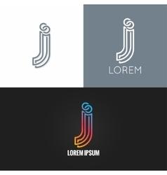 letter J logo alphabet design icon set background vector image vector image