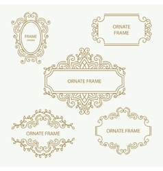 Set design element templates vector image