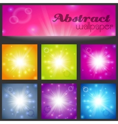 Set of abstract magic light background vector image