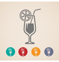 cocktail glass icons vector image