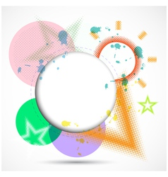 Modern Design Circle template background vector image