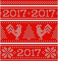 New Year horizontal seamless background vector image vector image