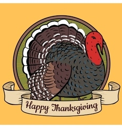 tray with turkey vector image vector image