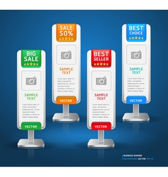Business stand display banner and card background vector image vector image