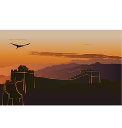 China Great Wall vector image