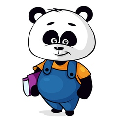 clever panda vector image vector image