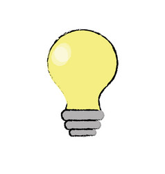 Electricity bulb innovation to illuminated of vector