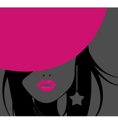 funky girl vector image vector image