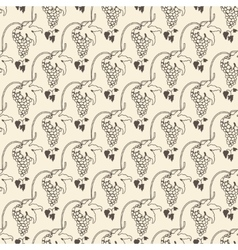 Grapes seamless pattern for wine background vector image