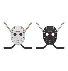 Horror hockey Mask for Halloween vector image