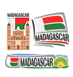 logo for madagascar vector image vector image