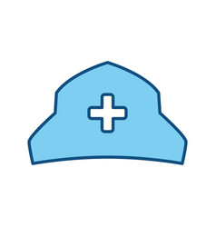 nurse hat isolated vector image