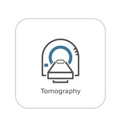 Tomography Icon Flat Design vector image vector image