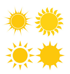 abstract simply sun icon sign collection set vector image