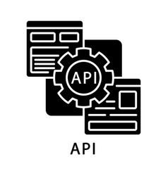 Api glyph icon vector