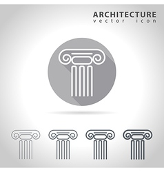 Architecture outline icon vector image