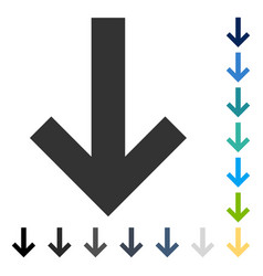 Arrow down icon vector