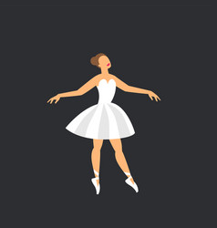 Ballet dancer dancing ballerina on a dark vector