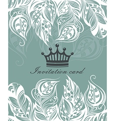 Beautiful floral invitation card vector