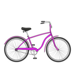 Bike isolated object on white background the vector