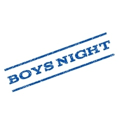 Boys Night Watermark Stamp vector image