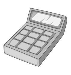 Calculation icon monochrome vector