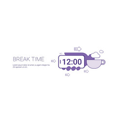 coffee break time web banner with copy space vector image