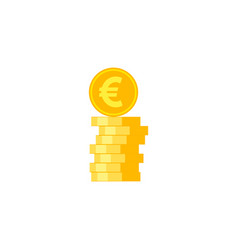 Coins stack flat icon vector