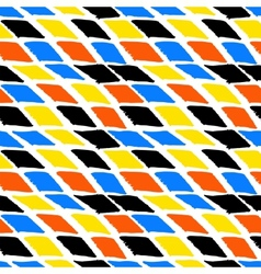 Colorful bold harlequin pattern vector image