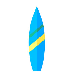 Coloured image a surfboard vector