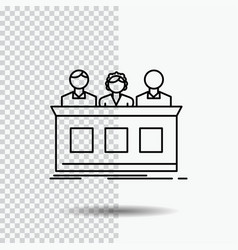competition contest expert judge jury line icon vector image