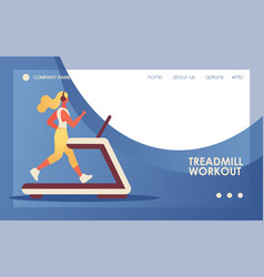 concept banner with young flat woman vector image