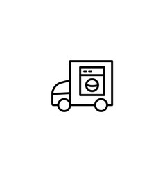 delivery laundry truck icon vector image