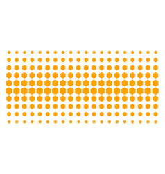 Filled hexagon shape halftone pattern vector