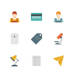 flat design icons business symbols vector image