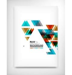 Flyer Brochure Design Template Layout vector image