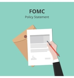 Fomc with business man signing a vector