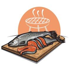 fresh salmon vector image